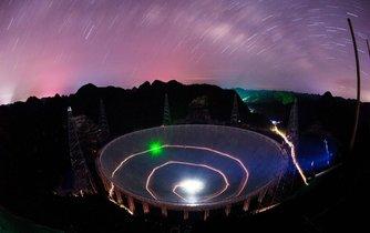 Teleskop v Pingtangu po setmění