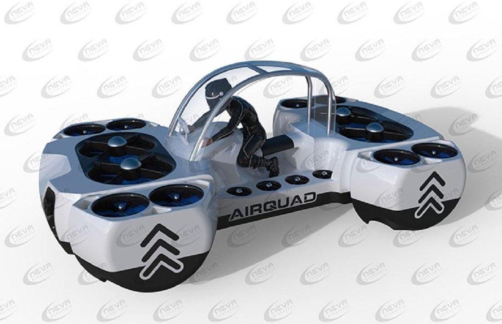 Dron, který unese stokilového člověka. AirQuadOne firmy Neva Aerospace.