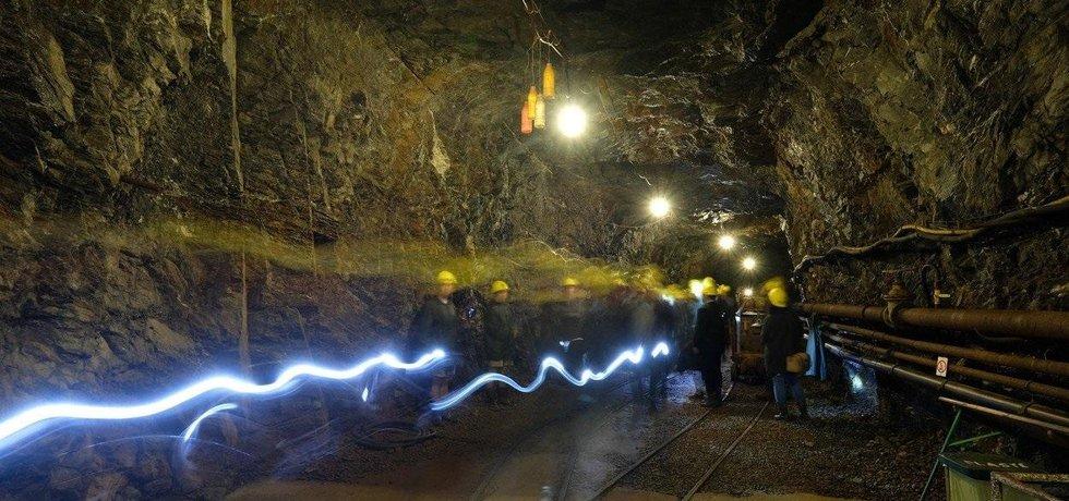 Prohlídka bývalého cínového dolu na německé straně Krušných hor, ilustrační foto