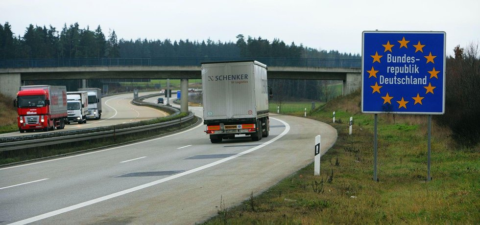 Hranice mezi Českem a Německem u Rozvadova, ilustrační foto