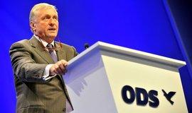 Bývalý předseda ODS Mirek Topolánek ve svém projevu prohlásil, že strana ztratila důvěryhodnost. ODS ODS podle něho dokonce může jako politická síla skončit. (Foto ČTK)