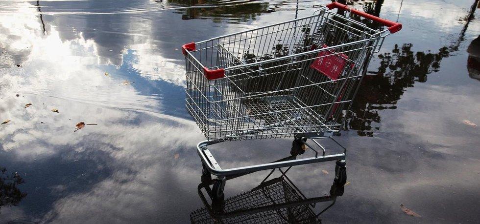 Nákupní vozík, ilustrační foto