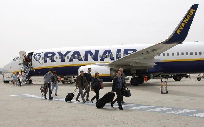Stroj společnosti Ryanair, ilustrační foto