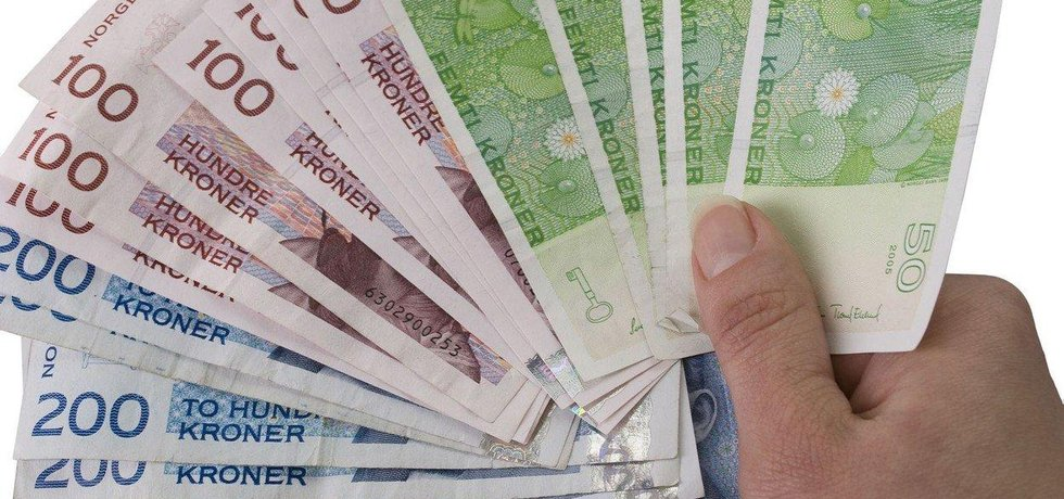 Norská koruna, ilustrační foto