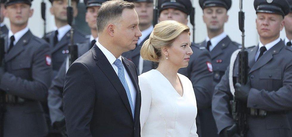 Polský prezident Andrzej Duda a slovenská prezidentka Zuzana Čaputová