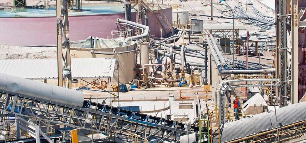 Závod na zpracování lithia v Chille, ilustrační foto