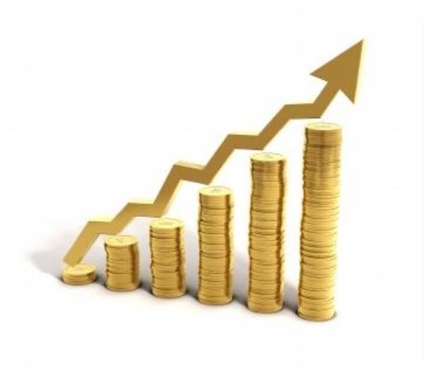 peníze, graf, zisk, růst