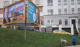 Billboardy před volbou prezidenta