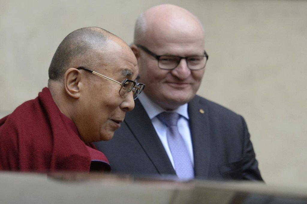 Ministr kultury Daniel Herman se setkal s tibetským duchovním vůdcem dalajlamou