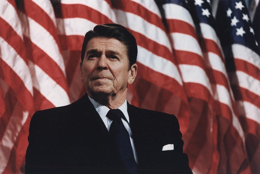 Americký prezident Ronald Reagan v roce 1982.