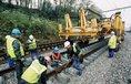 Modernizace železniční trati - ilustrační foto