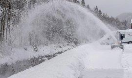 Odklízení sněhu, ilustrační foto