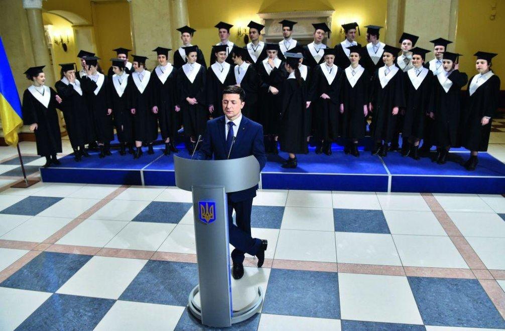 Volodymyr Zelenskij 31. ledna oznámil, že bude kandidovat na prezidenta