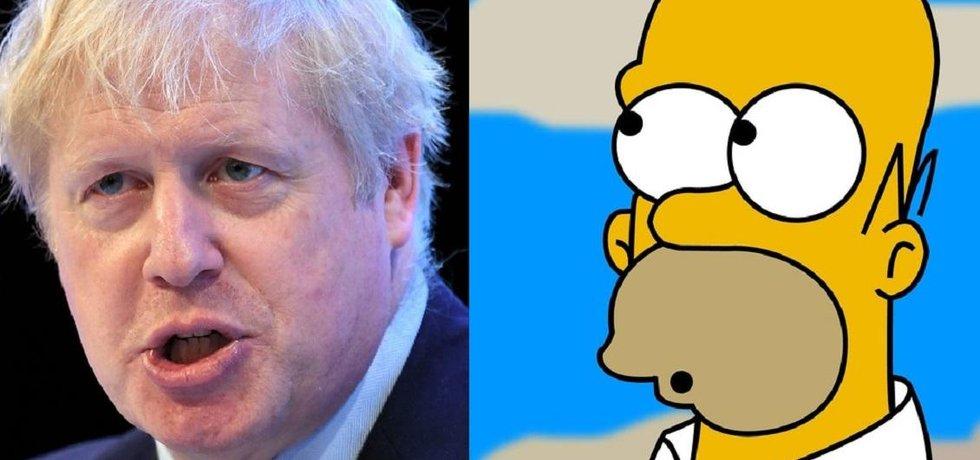 Boris Johnson / Homer Simpson