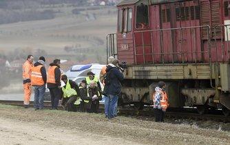 Železniční nehoda - ilustrační foto