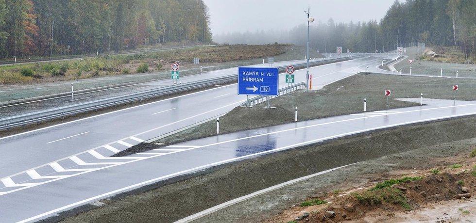 Nově otevřený úsek dálnice D4