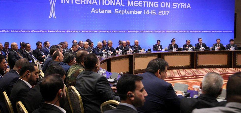 Konference o Sýrii v Kazachstánu