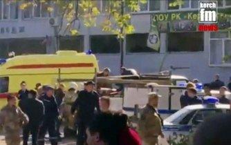 Výbuch ve škole na Krymu