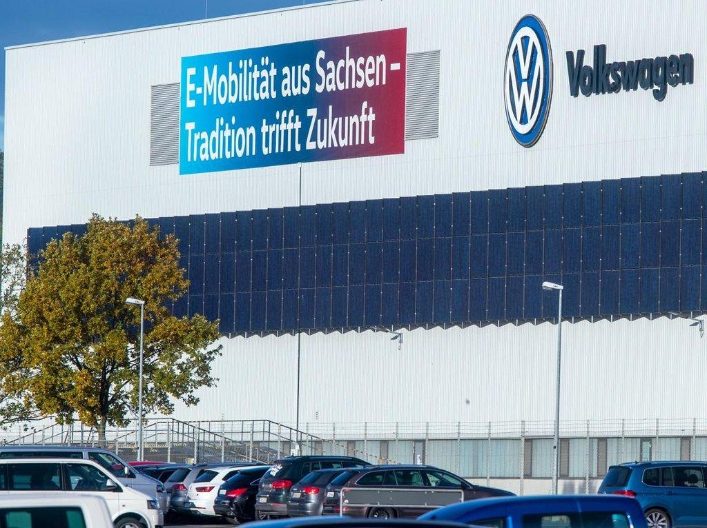 Továrna Volkswagenu ve východoněmeckém Cvikově