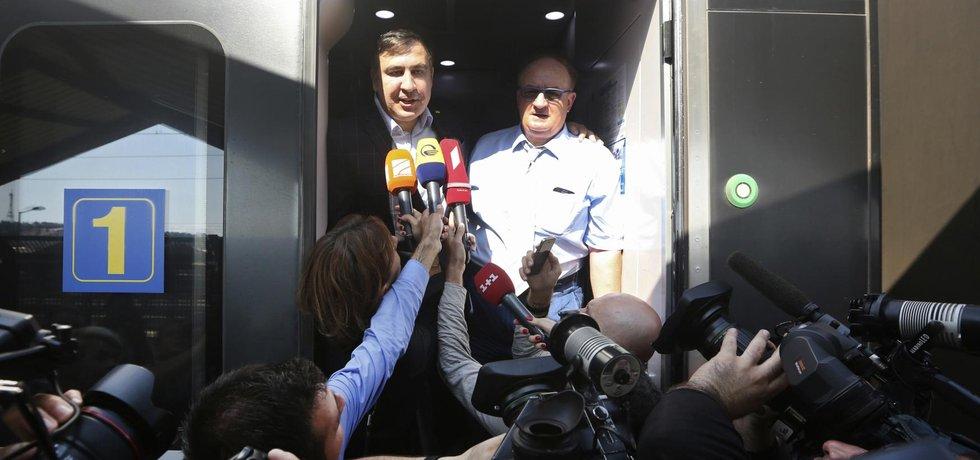 Michail Saakašvili a Jacek Saryusz-Wolski