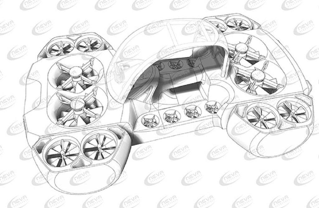 Plán dronu AirQuadOne firmy Neva Aerospace.