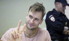 Bývalý vůdce Pussy Riot Pjotr Verzilov