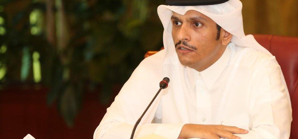 Katarský ministr zahraničí šajch Muhammad bin Abdar Rahmán Sání