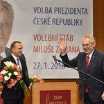 Miloš Zeman po oznámení výsledků prezidentských voleb