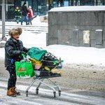 Bezdomovec v centru Moskvy, ilustrační foto