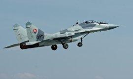 Stíhací letoun slovenského armádního letectva Mig-29