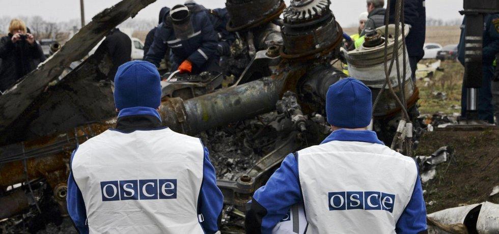Sběr trosek etu MH17 na východě Ukrajiny