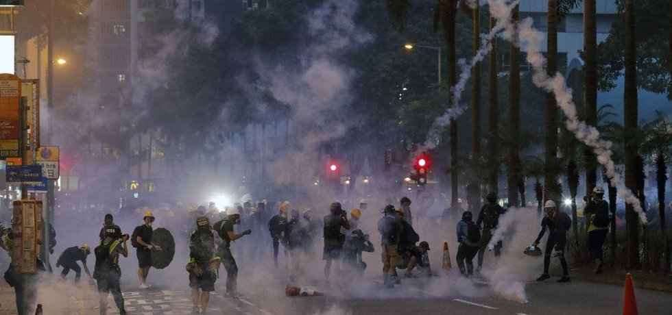 Protesty v Hongkongu, ilustrační foto