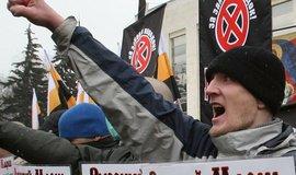 """Podobné neonacisty vstřebalo prokremelské mládežnické hnutí Naši, sarkasticky přezdívané """"Našisti"""""""