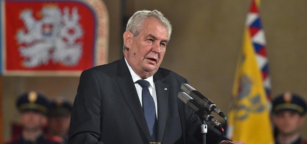Prezident Miloš Zeman při příležitosti výročí vzniku samostatného československého státu 28. října minulý rok.