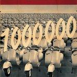Dobová inzerce Vespa – milion vyrobených kusů, 1954
