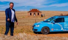 Wiebe Wakker chtěl svou cestou z Amsterodamu do Sydney podpořit využívání elektromobilů.