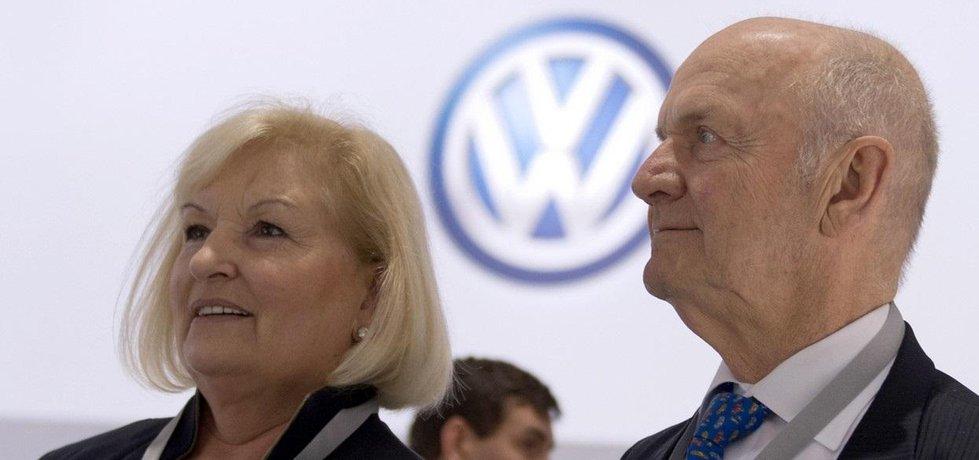 Ursula Piëchová a Ferdinand Piëch na snímku z roku 2014.