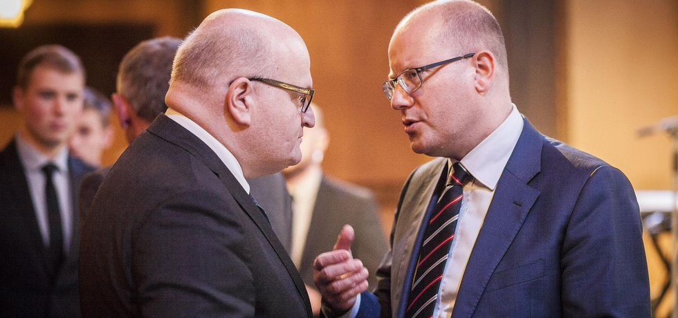Daniel Herman (vlevo) a Bohuslav Sobotka