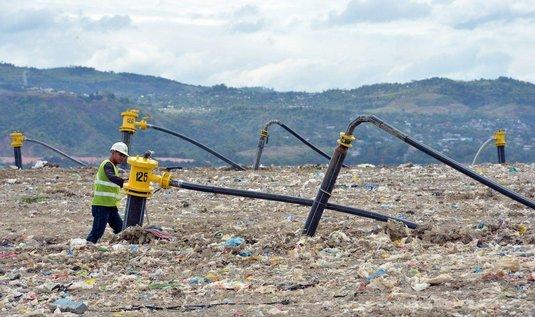 Skládka odpadu jako zdroj elektřiny na Filipínách