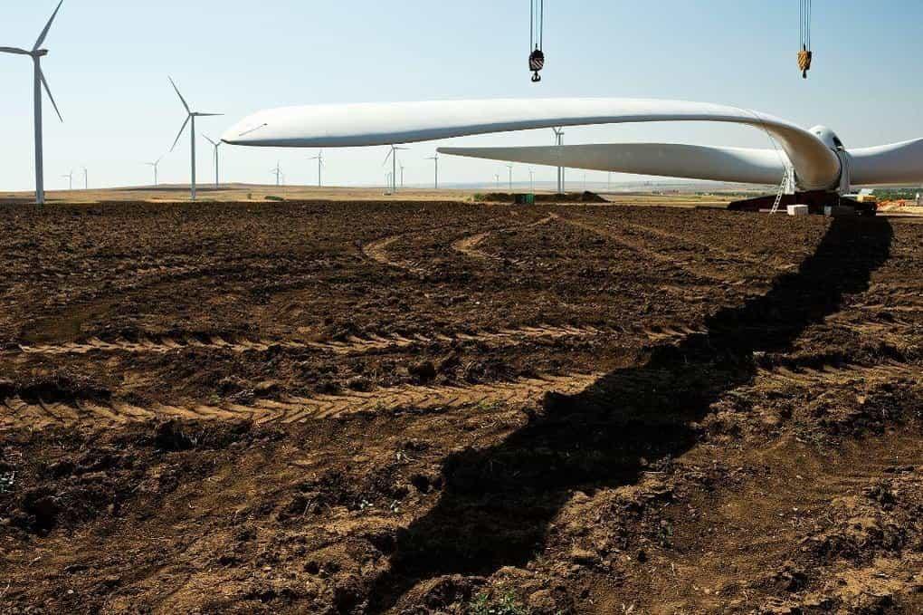 Výstavba větrného parku ČEZ Fantanele Cogealac v Rumunsku