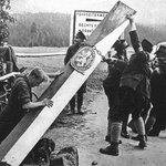 Hraniční orientační sloup Československé republiky, ilustrační foto