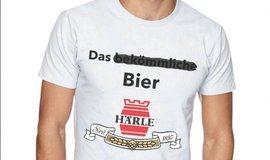 Reklamní triko pivovaru Härle