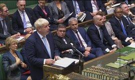Boris Johnson v britském parlamentu, ilustrační foto