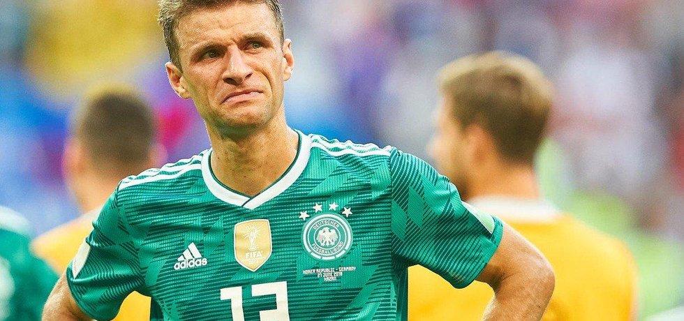 Německý reprezentant Thomas Müller po překvapivém vyřazení z mistrovství světa