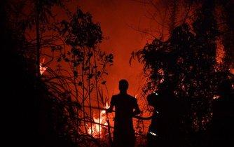 Požár v Indonésii, ilustrační foto