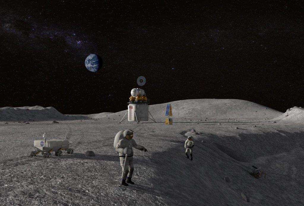 Vizualizace americké mise na Měsíci, ilustrační foto