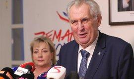 Miloš Zeman hodnotí výsledky prvního kola prezidentské volby