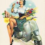 Dobová inzerce Vespa – kalendář, 1954