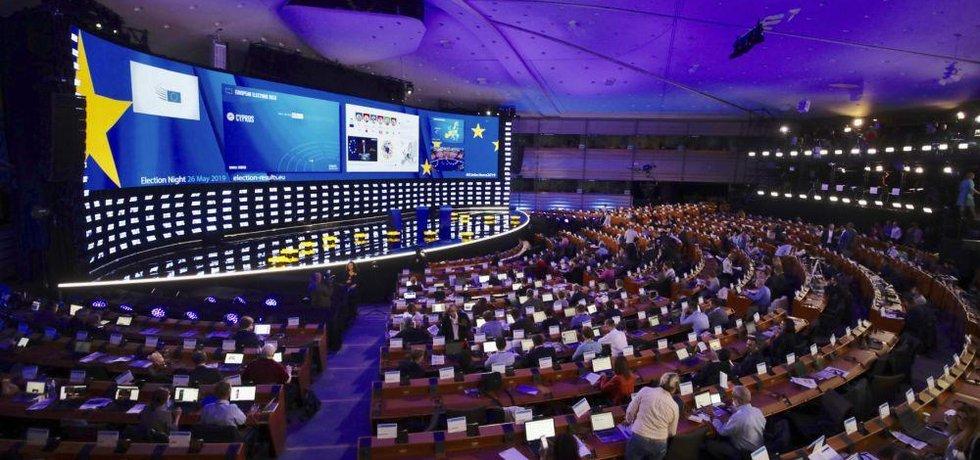 Čekání na výsledky v Evropském parlamentu