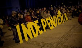 Podporovatelé nezávislosti Katalánska na Španělsku